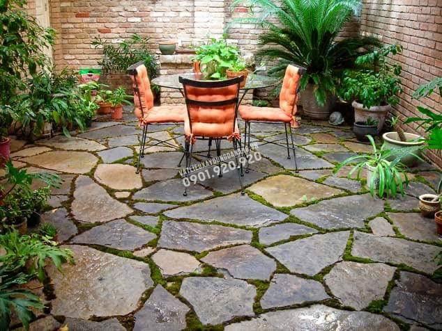công trình đá lát sân vườn