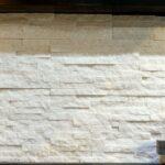 Đá ghép trắng Bạch Tuyết có ánh kim, khổ 10x50cm